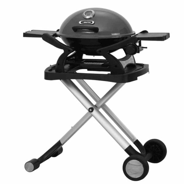 BBQ Portable Gas Barbecue Grey lid with stand
