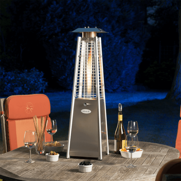 Chantico Flame Tabletop Patio Heater in situ