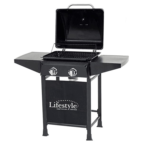 Cuba 2 burner gas bbq cover with side shelves